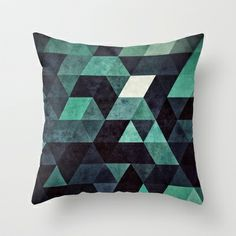Want to start looking into getting a series of similar geometric cushions - ddrypp Throw Pillow by Spires - $20.00