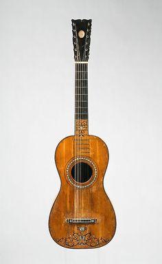 Guitar Joseph Benedid Date: 1787 Geography: Cadiz, Spain Medium: Woods, metal, mother-of-pearl Dimensions: Body L. 45.8 cm (18-1/2 in.); String L. 63.9 cm (25-3/16 in.); Total L. 95.8 cm (37-3/4 in.)