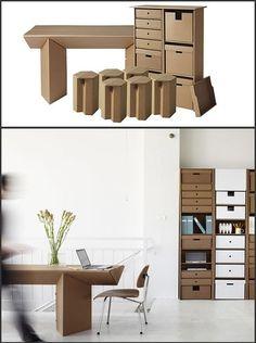 Muebles de cartón para oficina