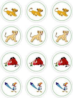 Lion King Printable Cupcake Toppers