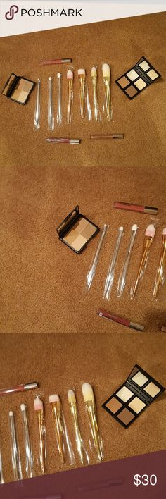 The Bold and more!!! Explosion on Christmas. The highly talked about Bold Metals collection of Real Techniques brushes and makeup too. Woo Hoo. What a steal of a deal! BNWT Real Techniques  Makeup