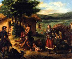 Eugène Delacroix ~ Hermione en de herders ~ 1859 ~ Olieverf op doek ~ 82 x 104,5 cm. ~ Nasjonalmuseet, Stockholm
