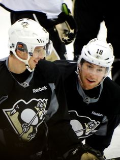 1a5bd06f9 Captain Crosby and James Neal sharing a laugh. Steelers Football