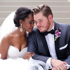 Beautiful interracial couple wedding photography #love #wmbw #bwwm #swirl