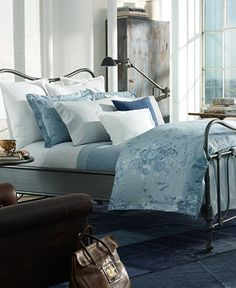 CLOSEOUT! Ralph Lauren Indigo Montauk Collection - Bedding Collections - Bed & Bath - Macy's