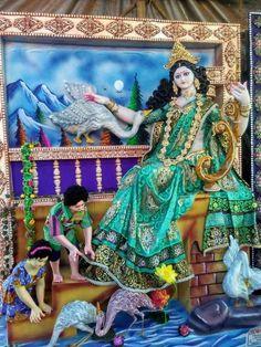 Saraswati Photo, Maa Durga Photo, Maa Durga Image, Saraswati Goddess, Durga Images, Ganesh Images, Radha Krishna Images, Saraswati Murti, Navratri Pictures
