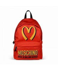 Moschino Mcdonald Womens Techno Fabric Backpack Red