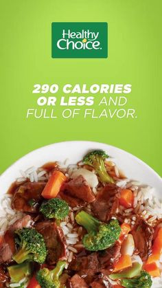Craving a little more variety in your low-cal lunch or dinner? Choose tender beef or juicy grilled chicken with crisp veggies. Delicious Healthy Choice Café Steamers are ready in 5 minutes, with at least 13g of protein and under 290 calories. Healthy Choice Cafe Steamers, Low Cal Lunch, Teriyaki Sauce, Grilled Chicken, Healthy Choices, Cravings, Veggies, Beef, Anxiety Disorder