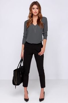Come What May Grey Long Sleeve Top at Lulus.com!