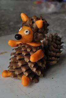 поделки из природных материалов: 21 тыс изображений найдено в Яндекс.Картинках Pine Cone Art, Pine Cones, Preschool Crafts, Diy And Crafts, Crafts For Kids, Art Activities, Toddler Activities, Autumn Animals, Grandma Birthday