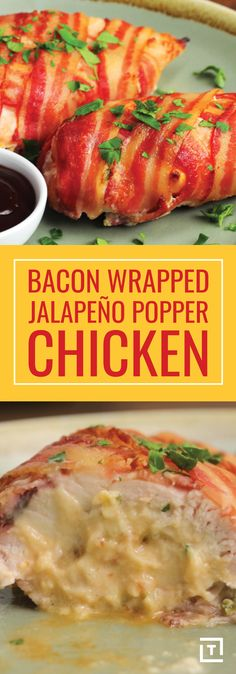 Bacon wrapped jalapeño popper chicken