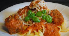 Anne's hyggested: Italienske kødboller m. tomatsovs & frisk pasta