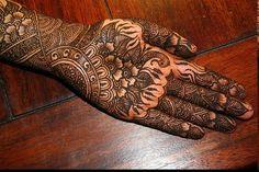 Modern Indian Bridal Mehendi Design
