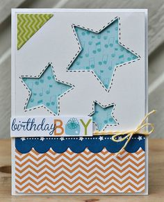 Bella Blvd Happy Birthday card, featuring the Birthday Boy collection. By Carina Lindholm, for Bella Blvd.
