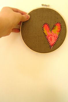 embroidered burlap hoop