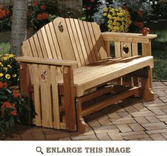 Porch Glider, Bench Woodworking Plan, Outdoor Furniture Chair Project Plan | WOOD Store