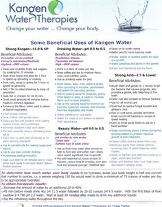 The Benefits of Drinking Ionized Alkaline Water Kangen water ... Change your water ~ Change your life! www.knowtruthabou...