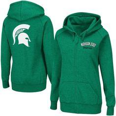 Michigan State Spartans Ladies Vegas Full Zip Hoodie Sweatshirt - Green
