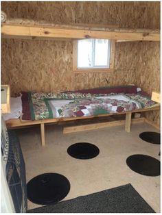 Ice Fishing Shanty, Ice Shanty, Ice Fishing House, Fishing Shack, Cottage Ideas, Ping Pong Table, Atv, Campers, Hunting