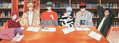 Kuroko no Basket Midorima Shintarou, Akashi Seijuro, Kiseki No Sedai, Japanese Cartoon, Kuroko's Basketball, Cute Anime Boy, Boys Playing, Kuroko No Basket, All Anime