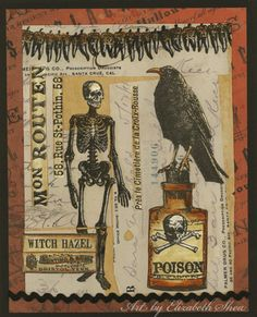 Art by Elizabeth Shea - Apothecary rubber stamp collection by Oxford Impressions.