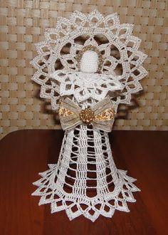 Картинка Crochet Angel Pattern, Crochet Angels, Thread Crochet, Petunias, Ideas Para, Nativity, Wings, Holidays, Christmas