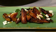 the chew   Recipe    Michael Symon's Roasted Carrots With Feta And Mint