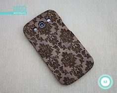 Floral Galaxy S3 case Wood Samsung Galaxy S3 case by wicici