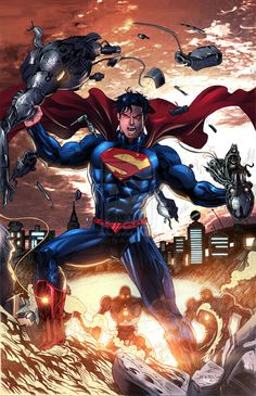 superman artwork | superman unbound colored by jey2dworld fan art traditional art ...