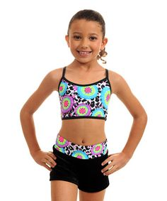 This Blue  amp  Green Tie Dye Sports Bra  amp  Shorts - Girls by TumbleWear b77489b7e