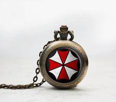 Umbrella Corporation necklace Resident Evil by ThreeTwelveTrinkets