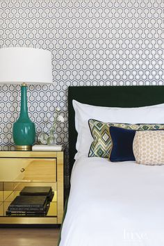 Pops of bold color give these luxurious bedrooms the extra dose of wow they need.