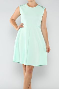c10d35b7eb924 Mint Side Lace Dress 2x - Blondellamy Dean Curvy Outfits