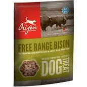 This single ingredient treat is great for dogs with food related allergies. Orijen Bison Singles Freeze Dried Treats are 100% pure bison, no additives, preservatives or homones. Each treat has only 7 calories ON SALE NOW reg. price $8.81