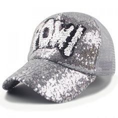 Chic Sequins and Letter Shape Embellished Women's Baseball Cap #CLICK! #clothing, #shoes, #jewelry, #women, #men, #hats, #watches