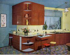 cuisine en formica faon bois de la marque culina de 1964 - Formica Cuisine