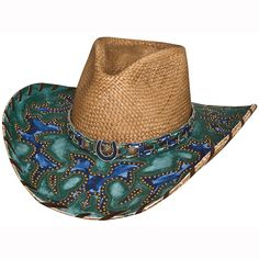 The times are a-changing, but every generation can agree that the Wind of Change cowgirl hat from Bullhide's Platinum Collection is an exquisite style. Sure to take your breath away, this panama straw cowgirl hat has an intricate overlay design atop the brim, turning up into a matching hat band. The