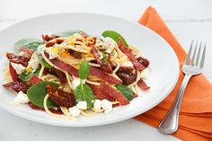 Spaghetti with Crisp Salami, Sundried Tomato and Feta recipe - Easy Countdown Recipes Spinach And Cheese, Yummy Food, Yummy Recipes, Free Recipes, Recipe Today, Budget Meals, Quick Meals, Food For Thought, Feta