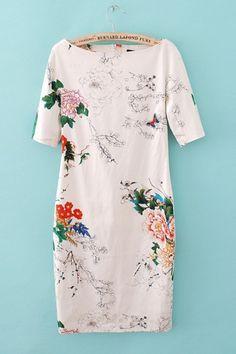 elegant floral dress.