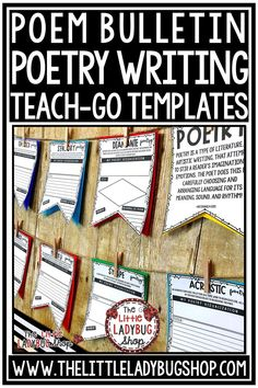 You will love these Poetry Writing Poster Pennants that are perfect for you to use as your students master studying these poems.Your students will LOVE seeing these displayed after they are complete! This Poetry Writing works perfectly for students in 2nd grade, 3rd grade, 4th grade. #poetrywriting #poemwriting #poetryactivities