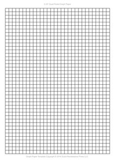 Graph Paper Template 1 4 Inch Letter Pdf Printables