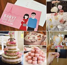 Chic {French Inspired} Pink Baby Shower