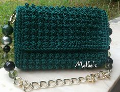 Chrochet, Knit Crochet, Crochet Handbags, Crochet Bags, Popcorn Stitch, Chanel Boy Bag, Purses And Bags, Pouch, Crochet Tutorials
