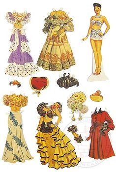 Buy Carmen Miranda Paper Doll Dress Set at TinToyArcade.com