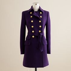 Double-Cloth Townhouse Trench from J.Crew in dark eggplant. I would so wear this!