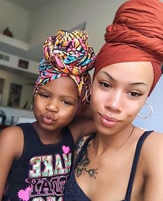 Mothers And Daughters With Natural Hair - hair style Natural Hair Tips, Natural Hair Styles, Protective Hairstyles For Natural Hair, Natural Oils, Mode Turban, Hair Wrap Scarf, Scarf Head Wraps, African Head Wraps, My Black Is Beautiful