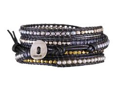Chan Luu | Pyrite and Mixed Metal Wrap Bracelet in New Bracelets at TWISTonline