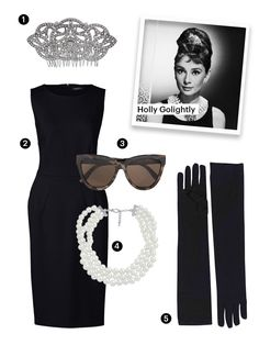 Breakfast at tiffanys costume outfits holly golightly trendy ideas Homemade Halloween Costumes, Group Halloween Costumes, Family Costumes, Halloween Diy, Best Group Costumes, Zombie Costumes, Halloween Couples, Halloween Queen, Halloween Inspo