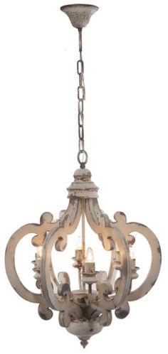 A dramatic, stunning way to light up entryway, porch, hallways, dining room or eat-in kitchen. This beautiful Wood-Metal Chandelier will add an elegant touch to your home decor. Finished in antiqued w