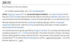 JSON | wikipedia